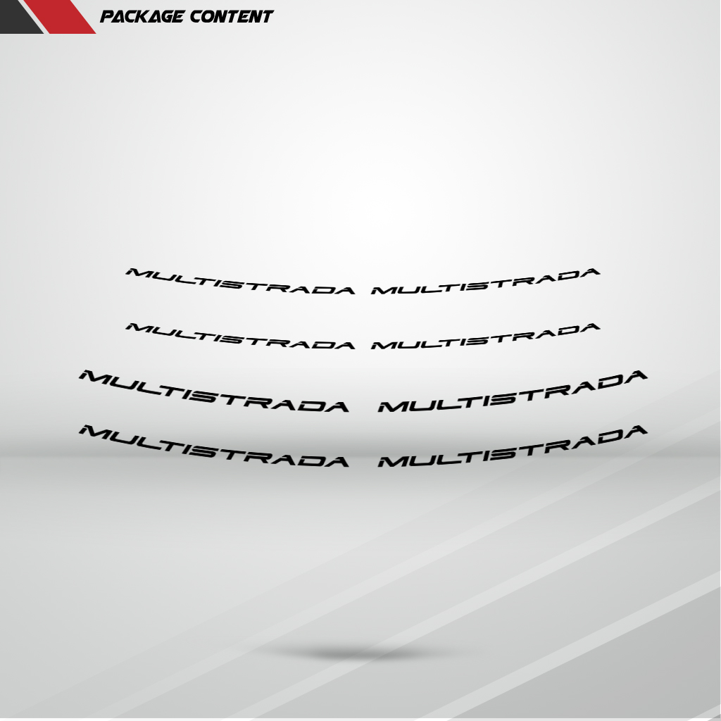 Naranja-fluorescente-Inner-Pegatina-de-la-Motocicleta-Ducati-Multistrada